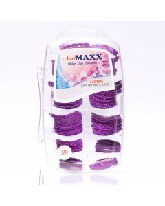 Purple Paradise Glitter Acrylic Nail Tips 135pcs/box