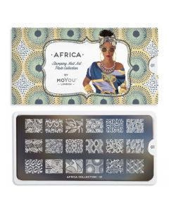 MoYou Africa Nail Art Plate Collection #01