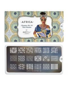 MoYou Africa Nail Art Plate Collection #05