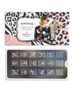 MoYou Animal Nail Art Plate Collection #12