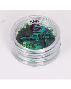 Amy G Nail Art Collection - Iridescent Emerald Sequins 0.5g