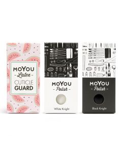 MoYou Fantastic Trio Bundle - Cuticle Guard, Black Knight, White Knight