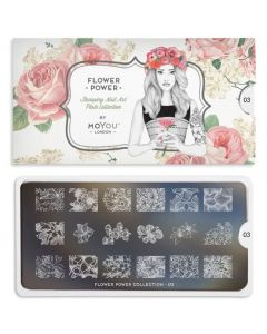 MoYou Flower Power Nail Art Plate Collection #03