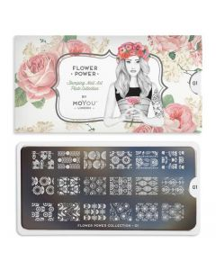 MoYou Flower Power Nail Art Plate Collection #1