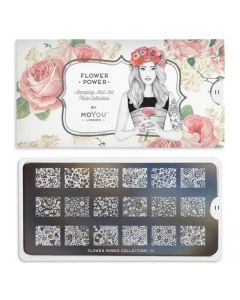 MoYou Flower Power Nail Art Plate Collection #11