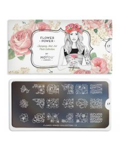 MoYou Flower Power Nail Art Plate Collection #17