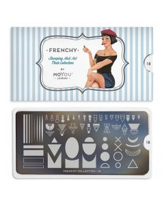 MoYou Frenchy Nail Art Plate Collection #18