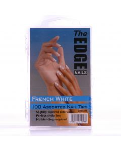The Edge French White Nail Tips - Box of 100 Assorted Tips