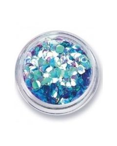 Amy G Nail Art Collection - Iridescent Aqua Sequins 0.5g