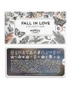MoYou Fall in Love Nail Art Plate Collection #04