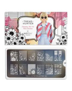 MoYou Trend Hunter Nail Art Plate Collection #02