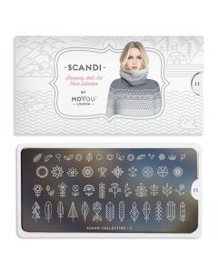 MoYou Scandi Nail Art Plate Collection #11