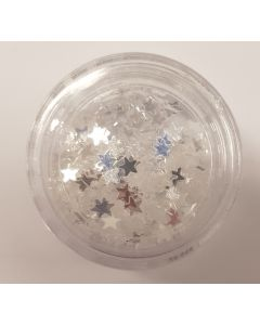 Decorative Silver Star Sequins