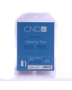 CND Enhancements Velocity Tips - White- 100 tips