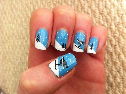 skiing nails